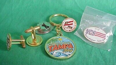 LOT Key Chain Cuff Links Pin National Veterans Wheelchair Games