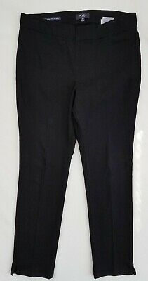 NYDJ Sz 8P Alina BLACK Pull On Stretch Ankle Skinny Jeans Slim Pants Lift Tuck