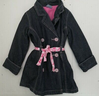 Pumpkin patch KID trench denim jeans lined Coat Jacket Age 2 -  3 Girl VGC