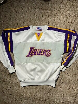 Vtg 80'S Los Angeles Lakers Starter Crew Neck Sweater Men S Rare Kobe Shaq
