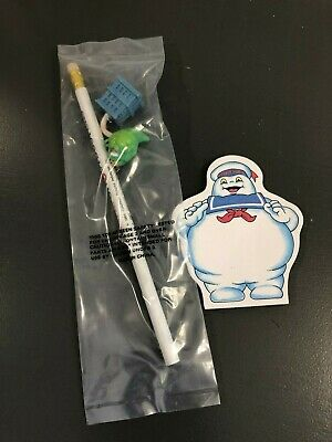 Vintage Real Ghostbusters Sealed Pencil and Notepad Stay Puft 1984 1987