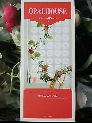 """New OPALHOUSE ARTIFICIAL ROSE /& OLIVE GARLAND ~ 60/"""" long"""
