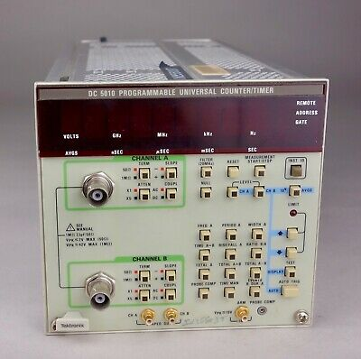 Tektronix Dc5010 Dc-5010  Programmable Universal Counter/Timer Checked Working