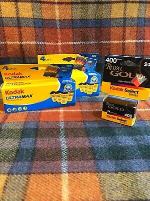 Kodak Ultramax 400 Film 8 Rolls 24 Exp NEW SEALED Exp 08/14 09/14 + 1 Kodak Gold