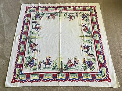 Vintage Hacienda Mexicana Style Tablecloth
