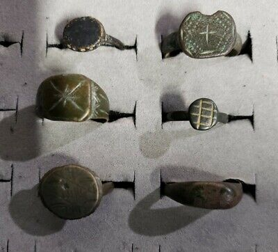 Byzantine Bronze Rings~Estate Find~Free Shipping