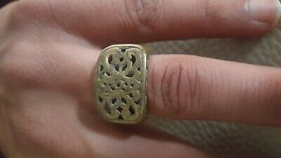 Old Antique Roman Ring Bronze Artifact  Old Stuning Extremely Rare