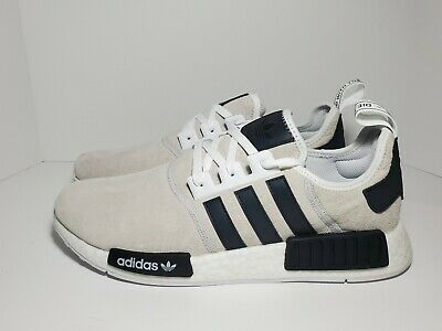 adidas Originals NMD R1 White//Black//Blue Men/'s F97418