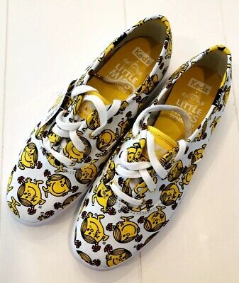Keds x Little Miss Sunshine Women's Champion White & Yellow Sneakers Sz 7 NEW