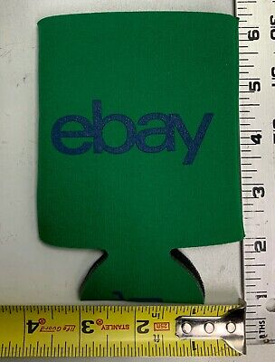 Ebay Green Beer Soda Can Coozie eBayanna Collectible Advertising