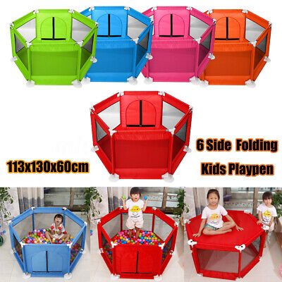 Foldable Child Baby Kids Play Pens Playpen Room Divider Educational Toy