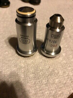 Lot Of Two Carl Zeiss Microscope Objectives