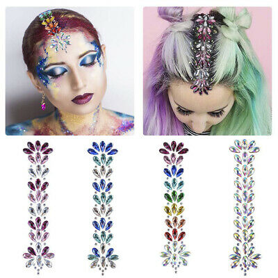 700PCS 4mm Assorted Colors Stick On Face Gems and Body Jewels 7 Sheets