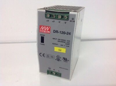 MW MEANWELL DR 120-24 5A Power Supply
