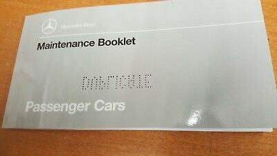 Mercedes All Early Duplicate Service Maintenance Book Genuine W126 124 201 Etc