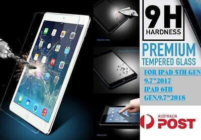 2Pack Tempered Glass Screen Protector Film Apple iPad 9.7 5th 6th 10.2 7th Gen.