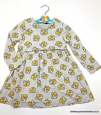 2-3 year George girls dress Children in need Pudsey bear charity