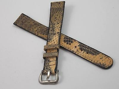 Ladies Multi Colored Lizard Vintage Watch Band 14mm Silver Tone Buckle NOS