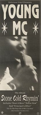 2/12/89Pgn50 Advert: Young Mc The New Album 'stone Cold Rhythm' Out Now 15x5