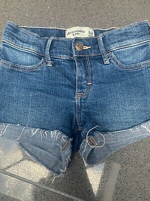 Abercrombie & Fitch Girls Denim Shorts Age 7/8 Excellent Condition.