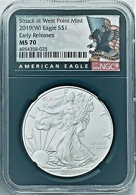 Grade 70 2019- Early Releases American Silver Eagle W NGC MS70