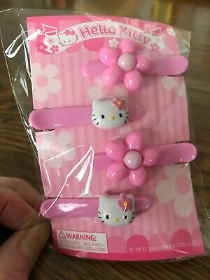 Package Sanrio Hello Kitty Hair Snap Barrettes 4 Ct