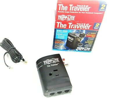 NEW TRIPP-LITE THE TRAVELER 2 OUTLET PORTABLE SURGE PROTECTION 870 JOULES