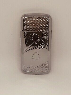 Chrome ACE OF HEARTS Refillable Lighter Gift.