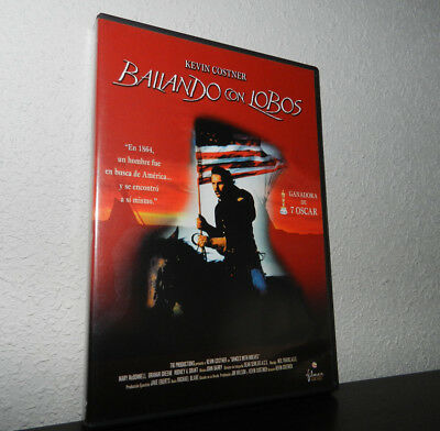 BAILANDO CON LOBOS dvd / DANCES WITH WOLVES / KEVIN COSTNER / western