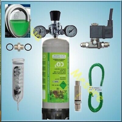 Kit CO2 1000L bouteille jetable 1,100Kg & Testeur permanent JBL co2 / pH Neuf !
