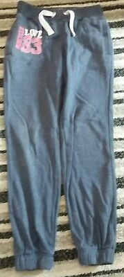 girls blue jogger bottoms 7-8 years