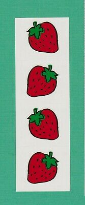 Mrs Grossman/'s Reflections FRUIT Strawberry Scrapbook Stickers 3 Strips