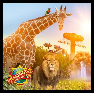 4 Chessington World Of Adventures Tickets Tuesday 21St April 21/04/2020 Rrp £208