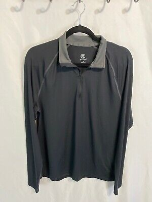 C9 Champion Men/'s Long Sleeve Stripe Run Shirt Railroad Gray Heather Pick Size
