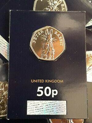 * 2019 PETER RABBIT * 50p Fifty Pence. BUNC. Change Checker. Uncirculated Carded