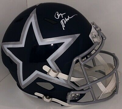 Roger Staubach Signed Autographed Dallas Cowboys Full Size AMP Helmet Psa/Dna