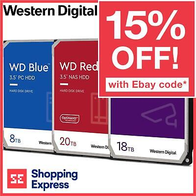 WD 1TB-14TB HDD Blue Red Black Purple Gold Western Digital Internal Hard Drive