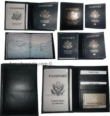 Lot of 6 USA Leather passport cover wallet credit card case ID holder brand new
