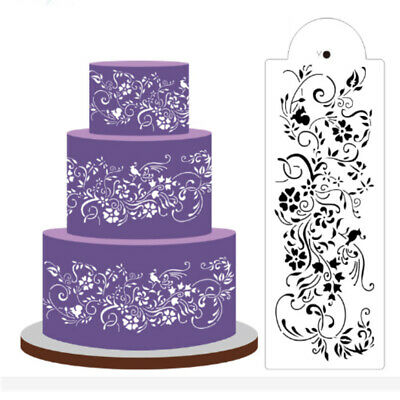 Plastic Cookie Cake Stencil Fondant Tool Decor for Cake Wedding Flower Party Pip