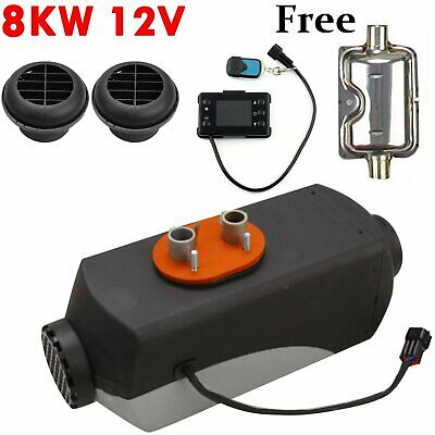 8KW 12V Diesel Air Heater LCD Thermostat Quiet 8000W 10L Tank for Car Truck Boat