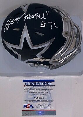 Ed Too Tall Jones Signed Autographed Dallas Cowboys AMP Mini Helmet Psa/Dna
