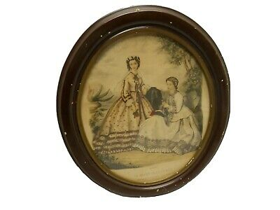 Framed Victorian Advertising Fashion Print La Mode Illustree Wall Decor