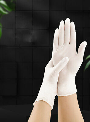 LE 100 PCS Mediacal Janitorial Disposable Latex Gloves Industrial Powder Free