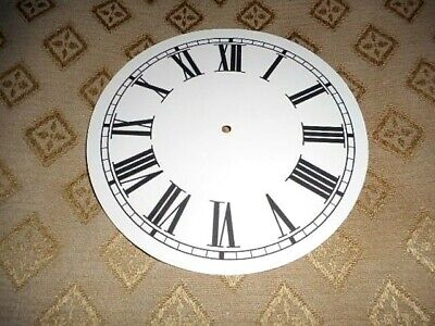 "Round Paper (Card) Clock Dial - 4 3/4"" M/T - Roman - MATT CREAM - Parts/Spares"