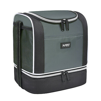 Insulated Lunch Bag Tote Box Hot and Cold Food Container Cooler For Men & Women
