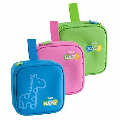 Decor Baby Quad Insulated Snack Cooler Bag Bpa Free Brand New Blue Green Pink
