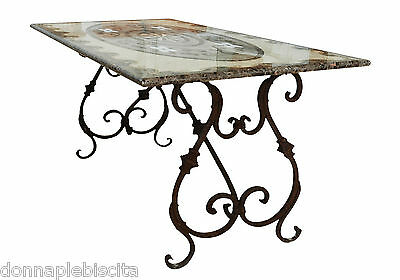 Table with Inlay in Marble Furnishing Style Classic Antiques Marble Inlays Table