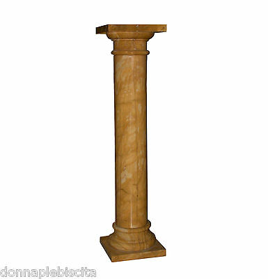Column Marble Yellow Egypt Antiques Classic Design H.39 3/8in