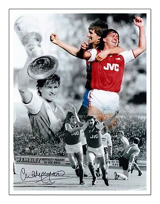 CHARLIE NICHOLAS ARSENAL HAND SIGNED PHOTO AUTHENTIC + COA - 16x12
