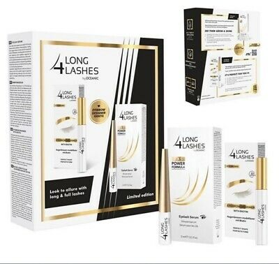 Long4Lashes LIMITED EDITION FX5 Power Formula Wimpernserum 3ml +Eyebrow Designer